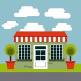 progettazione dell'esterno del ristorante royalty illustrazione gratis