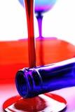 Progettazione dell'estratto della cristalleria del vino Immagine Stock