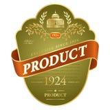 Progettazione dell'etichetta Fotografia Stock