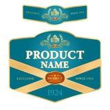 Progettazione dell'etichetta Fotografie Stock