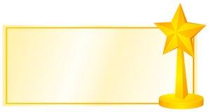 Progettazione dell'etichetta con la stella dorata illustrazione di stock