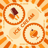 Progettazione dell'etichetta del gelato Fotografie Stock Libere da Diritti