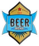 Progettazione dell'etichetta della birra Immagine Stock