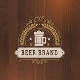 Progettazione dell'etichetta di affari dell'icona della birra Fotografie Stock
