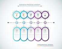 Progettazione dell'etichetta di Infographic di vettore con le icone e 5 opzioni o punti Fotografie Stock Libere da Diritti