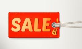 Progettazione dell'etichetta di vendita Vettore Fotografia Stock Libera da Diritti