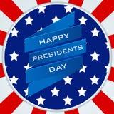Progettazione dell'etichetta o dell'autoadesivo per la celebrazione felice di presidenti Day Fotografia Stock