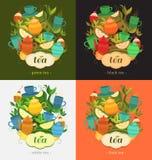 Progettazione dell'etichetta per tè Fotografia Stock