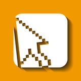 progettazione dell'icona del cursore Fotografie Stock