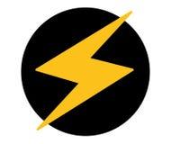 Progettazione dell'icona del fulmine illustrazione di stock