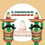 Progettazione dell'icona del Messico Fotografia Stock