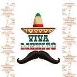 Progettazione dell'icona del Messico Fotografie Stock Libere da Diritti