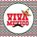 Progettazione dell'icona del Messico Immagini Stock