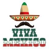 Progettazione dell'icona del Messico Fotografia Stock Libera da Diritti