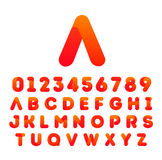 Progettazione dell'icona della fonte di alfabeto Immagine Stock Libera da Diritti