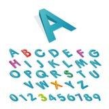 Progettazione dell'icona della fonte di alfabeto Immagine Stock