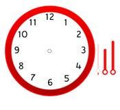 Progettazione dell'icona dello spazio in bianco del fronte di orologio Immagine Stock Libera da Diritti
