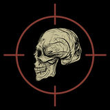 Progettazione dell'icona di logo del cranio royalty illustrazione gratis