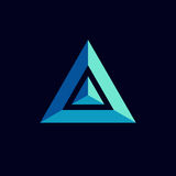 Progettazione dell'icona di logo del prisma Fotografia Stock Libera da Diritti