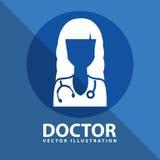 Progettazione dell'icona di medico Fotografie Stock Libere da Diritti