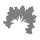 Progettazione dell'icona di simbolo di vettore del cerchio dell'onda sonora di musica dell'equalizzatore Immagine Stock Libera da Diritti
