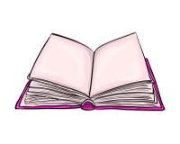 Progettazione dell'icona di simbolo di vettore del fumetto del libro aperto Bello illustrat illustrazione di stock