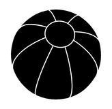 Progettazione dell'icona di simbolo di vettore della siluetta del beach ball Illustrazione di Stock