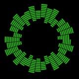 Progettazione dell'icona di simbolo di vettore del cerchio dell'onda sonora di musica dell'equalizzatore Icona dell'equalizzatore fotografia stock