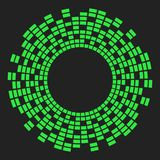 Progettazione dell'icona di simbolo di vettore del cerchio dell'onda sonora di musica dell'equalizzatore Icona dell'equalizzatore fotografie stock libere da diritti