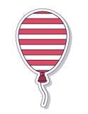 Progettazione dell'icona isolata aria patriottica del pallone Fotografia Stock Libera da Diritti