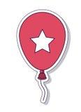 Progettazione dell'icona isolata aria patriottica del pallone Fotografia Stock