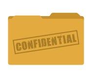 progettazione dell'icona isolata cartella confidenziale illustrazione di stock