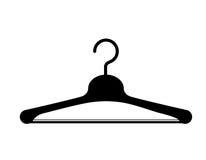 Progettazione dell'icona isolata gancio della gruccia per vestiti Fotografia Stock