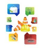 Progettazione dell'illustrazione degli strumenti di regolazione Fotografia Stock