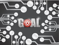 Progettazione dell'illustrazione dei circuiti di scopi dell'obiettivo Fotografia Stock