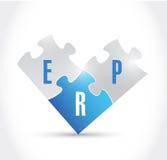 Progettazione dell'illustrazione dei pezzi di puzzle del Erp Fotografie Stock