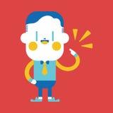 Progettazione dell'illustrazione del carattere Fumetto allegro dell'uomo d'affari, ENV Immagine Stock