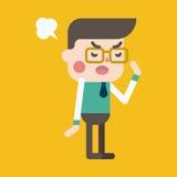 Progettazione dell'illustrazione del carattere Fumetto arrabbiato dell'uomo d'affari, ENV Immagini Stock