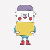 Progettazione dell'illustrazione del carattere fumetto del bordo del ragazzo, ENV Fotografia Stock