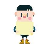 Progettazione dell'illustrazione del carattere fumetto del bordo del ragazzo, ENV Fotografie Stock
