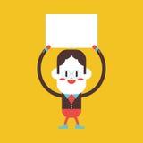 Progettazione dell'illustrazione del carattere Fumetto del bordo dell'uomo d'affari, ENV Fotografie Stock