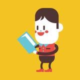 Progettazione dell'illustrazione del carattere Fumetto del libro di lettura del ragazzo, ENV Fotografia Stock