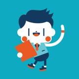 Progettazione dell'illustrazione del carattere Fumetto del messaggio dell'uomo d'affari, ENV Immagini Stock Libere da Diritti