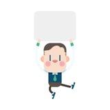 Progettazione dell'illustrazione del carattere Fumetto del messaggio dell'uomo d'affari, ENV Fotografie Stock Libere da Diritti