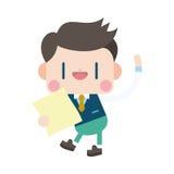Progettazione dell'illustrazione del carattere Fumetto del messaggio dell'uomo d'affari, ENV Immagine Stock Libera da Diritti