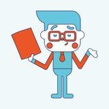 Progettazione dell'illustrazione del carattere Fumetto del messaggio dell'uomo d'affari, ENV Fotografia Stock Libera da Diritti