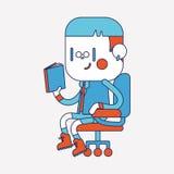 Progettazione dell'illustrazione del carattere Fumetto della lettura del ragazzo, ENV Fotografia Stock