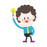Progettazione dell'illustrazione del carattere Fumetto di pensiero dell'uomo d'affari, ENV Fotografia Stock