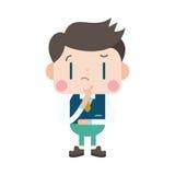 Progettazione dell'illustrazione del carattere Fumetto di pensiero dell'uomo d'affari, ENV Fotografia Stock Libera da Diritti