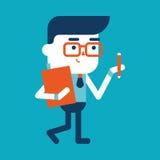 Progettazione dell'illustrazione del carattere Fumetto di scrittura dell'uomo d'affari, ENV Fotografia Stock